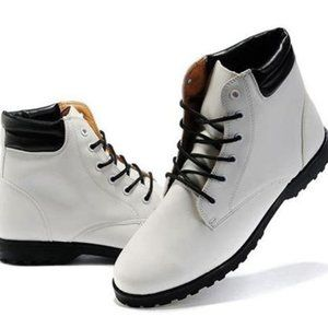 White Boots With Boot cut
